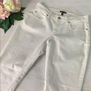 Eileen Fisher White Mid Rise Ankle Jean Size 2 New